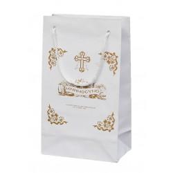 Τσάντα χάρτινη μνημοσύνου με κορδόνι 15.5x8.5x26 cm