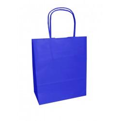 Τσάντα - σακούλα χάρτινη μπλε 25x12x31 εκ.- στριφτή λαβή