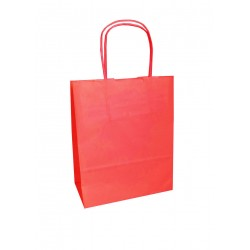 Τσάντα - σακούλα χάρτινη κόκκινη 25x12x30 εκ.- στριφτή λαβή