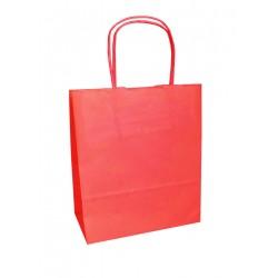 Τσάντα - σακούλα χάρτινη κόκκινη 32x12x41 εκ.- στριφτή λαβή