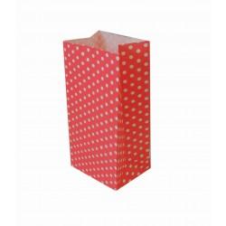 Σακουλάκι χάρτινο 9x18x6εκ.- κόκκινο πουά
