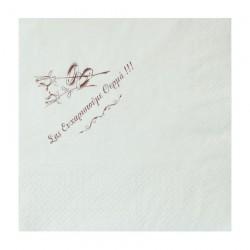 Χαρτοπετσέτα γάμου πολυτελείας 33x33 χρώμα λευκό, 100 τεμαχίων