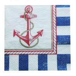 Χαρτοπετσέτα Party 33x33 cm - Σχέδιο Ναυτικό 16τμχ
