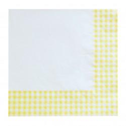 Χαρτοπετσέτα Party 33x33 cm - Σχέδιο κίτρινο