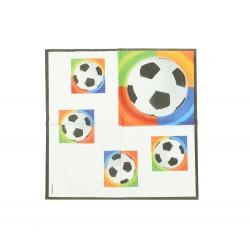 Χαρτοπετσέτα party 33x33cm - Σχέδιο ποδόσφαιρο 16τμχ