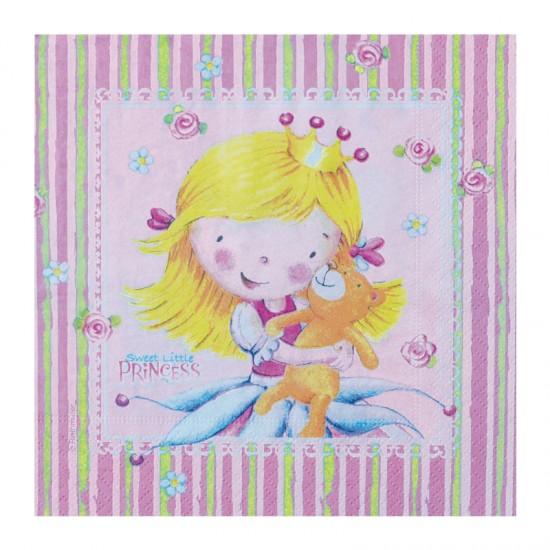 Χαρτοπετσέτα Party 33x33 cm - Σχέδιο Sweet Little Princess