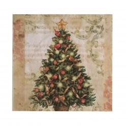 Xαρτοπετσέτα χριστουγεννιάτικη 40x40 cm - σχέδιο δέντρο