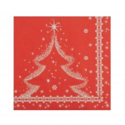 Χαρτοπετσέτα χριστουγεννιάτικη -σχέδιο χιονισμένο δέντρο