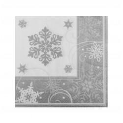 Χαρτοπετσέτα χριστουγεννιάτικη -σχέδιο χιόνι 16τμχ