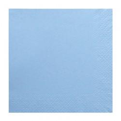 Χαρτοπετσέτα δίφυλλη χρώμα γαλάζιο 33x33 cm - 100 τεμάχιων