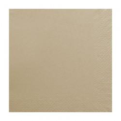 Χαρτοπετσέτα δίφυλλη χρώμα καφέ οικολογική 33x33 cm - τεμάχιο