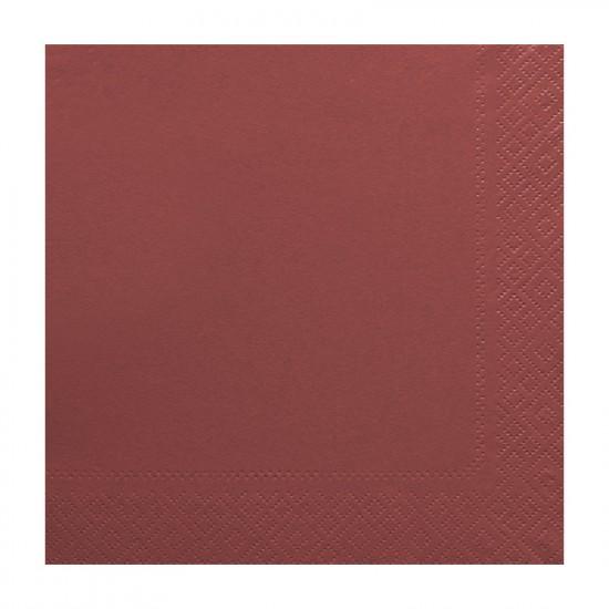 Χαρτοπετσέτα δίφυλλη χρώμα μπορντό 33x33 cm - 100 τεμάχιων