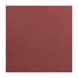 Χαρτοπετσέτα δίφυλλη χρώμα μπορντό 33x33 cm - τεμάχιο