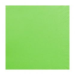 Χαρτοπετσέτα δίφυλλη χρώμα λαχανί 33x33 cm - 100 τεμάχιων