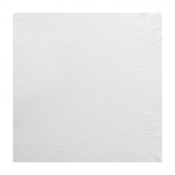 Χαρτοπετσέτα δίφυλλη χρώμα λευκό 33x33 cm - τεμάχιο