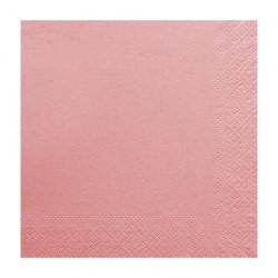 Χαρτοπετσέτα δίφυλλη χρώμα ροζ 33x33 cm - 100 τεμαχίων