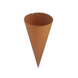 Χωνάκι χάρτινο 300gr 21x9cm kraft (κραφτ)